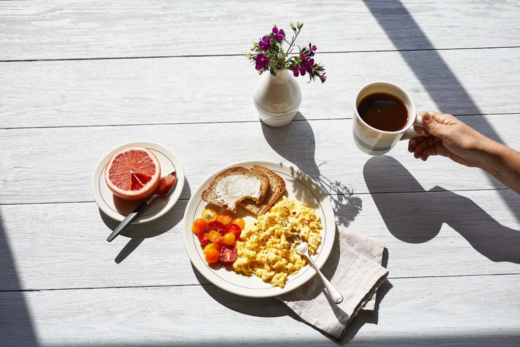 Food Styling Breakfast Scene