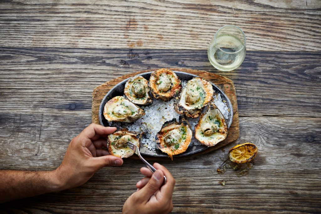 Food Styling Broiled Oysters